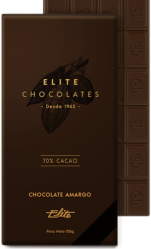 Chocolate Amargo 70% Cacao - Elite Chocolates
