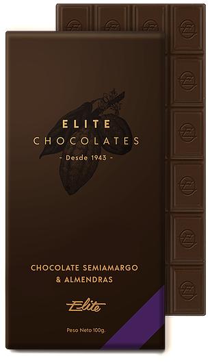 Chocolate Semiamargo & Almendras - Elite Chocolates
